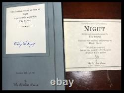 Night SIGNED by ELIE WIESEL New Easton Press Leather Bound Deluxe Limit 1/850
