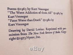Nothing Is Lost Save Honor-kurt Vonnegut Jr-signed By Vonnegut-2/40- Deluxe