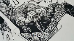 Original Hand Drawn Playfield Art for Williams Grand Lizard Pinball- Signed