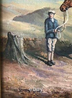 Original Irish Art Oil On Board Painting Horse Kellsboro Jack Grand National Win