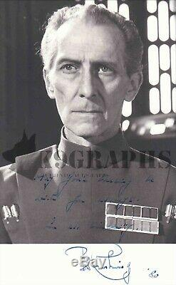 Peter Cushing Grand Moff Tarkin Star Wars Signed 5x8 Photo RARE Beckett BAS K9