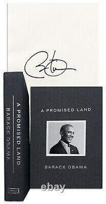 President Barack Obama Signed A PROMISED LAND Sealed Deluxe Edition Book In Hand