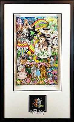 RARE SOLD OUT Charles Fazzino The Wizard of Oz Dx Edition Ltd Framed Art CERT
