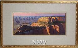 ROBB WOODS-American Realist-Original Signed Oil-North Rim Grand Canyon Scene