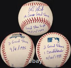 ROBIN VENTURA Grand Slam Inscription Stat Ball Signed Baseball Beckett BAS COA