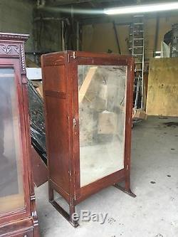 Rare Old Limberts Oak Clothes Closet Grand Rapids & Holland Signed Shipping Ok