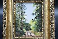 Robert Hughes Miniature Oil Painting The Grand Avenue Savernake Forest 3215