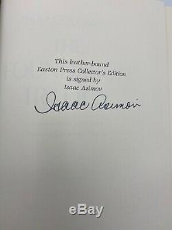 SIGNED Easton Press FOUNDATION TRILOGY Isaac Asimov Deluxe Collectors Edition SF