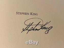 SIGNED LIMITED DELUXE STEPHEN KING DOLAN'S CADILLAC leather spine marbled boards