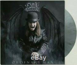 SIGNED OZZY OSBOURNE ORDINARY MAN Deluxe Silver Smoke VINYL LP & Litho