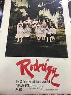 SIGNED PRINT Le Salon Exhibition Award Grand Palais Paris By GEORGE RODRIGUE