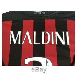 Signed Paolo Maldini AC Milan Shirt Framed Display Deluxe