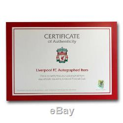 Signed Virgil van Dijk Liverpool FC Shirt Framed Display LFC Deluxe