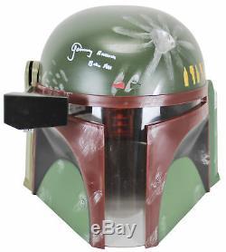 Star Wars Jeremy Bulloch Boba Fett Signed Deluxe Helmet White Signature BAS