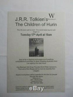 THE CHILDREN OF HURIN J. R. R. Tolkien Deluxe Slipcase TRIPLE SIGNED