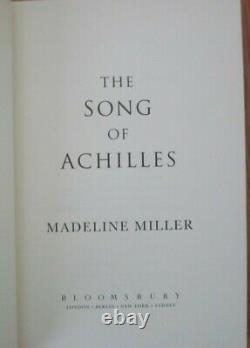 THE SONG OF ACHILLES by Madeline Miller, DELUXE 1st, SIGNED, HC, c. 2011