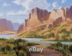 TOM HAAS (b. 1952)'Morning Light' oil 11x14 Grand Canyon Utah Arizona Western