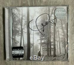 Taylor Swift Folklore Signed Deluxe CD Limited Edition In The Trees IN STOCK