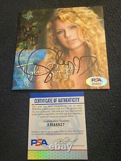 Taylor Swift Signed Taylor Swift CD Cover Deluxe Our Song Psa/dna Auth Ah48827