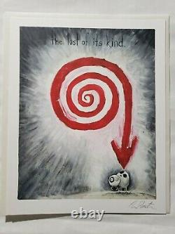 The Art of Tim Burton RARE Deluxe Hand Signed Book And Lithograph + Extras