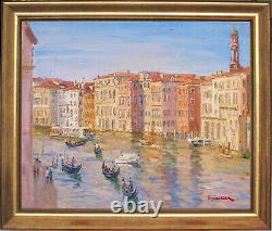 The Grand Canal, Veniceitalylisted Artistoriginal Oil Painting Marc Forestier