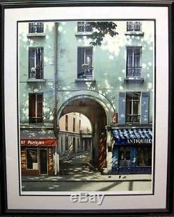 Thomas Pradzynski Original Fine Art Serigraph Grand Arch Framed Offers Welcome