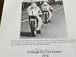 Ulster Grand Prix Paperback 1 July 1979 Signed by JOEY DUNLOP, MICK GRANT etc