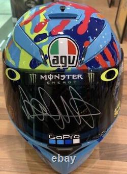 Valentino Rossi Personally Hand Signed Helmet Grand Prix Honda Yamaha Ducati