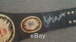WWF WWE AMY DUMAS HAND SIGNED AUTOGRAPHED DELUXE WOMEN'S CHAMPIONSHIP BELT Rare