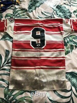 Wigan 1992 Grand Final Martin Dermott Signed Match Worn Jersey Shirt Warriors