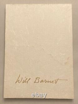 Will Barnet 27 Master Prints SIGNED deluxe edition slipcase color illustrations