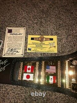 Wwe Wwf Hulk Hogan Autographed Hogan 86 Figs Inc Replica Deluxe Belt 110/1000