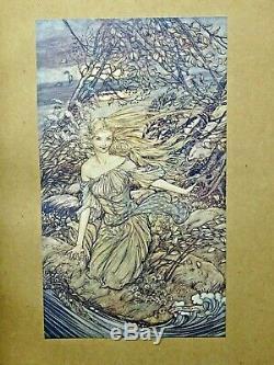 1909 Ondine Arthur Rackham Signé Limited Edition Deluxe Illustré Fairy Tale