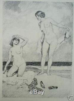 1918 Signe Dessins Plume De Norman Lindsay, De Luxe Ed 1/150, W 51 Plaques