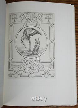 1936 Fables D'ésope Illustrated Signé Limitée Deluxe Édition Vélin S Gooden
