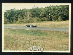 1965 Jim Clark Signé Période Couleur Formule 1 Photo Us Grand Prix Champion Du Monde D68