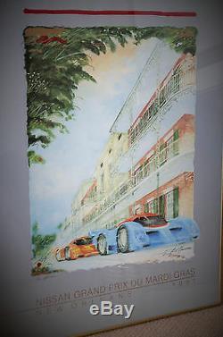 1991 Grand Prix Du Mardi Gras Affiche Dédicacée Numéroté New Orleans