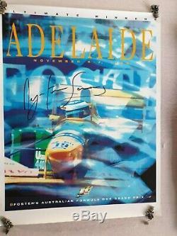 1993 Grand Prix D'australie Affiche Originale Signée Ayrton Senna -20% Réduction