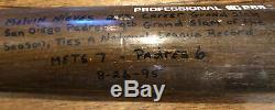 1995 Record Du Jeu Utilisé Réglage Run Bat Signed Home / Grand Slam Notice Complète Loa