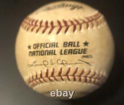 1995 Record Du Jeu Utilisé Réglage Signed Home Run / Grand Slam Baseball Pleine Loa