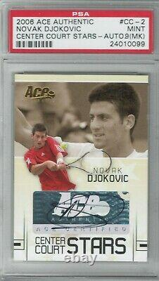 2006 Ace Authentic Grand Slam Novak Djokovic Rookie Rc Auto Signé Autographe