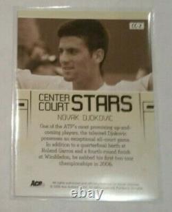 2006 Ace Authentique Du Grand Chelem Novak Djokovic Rookie Rc Auto Signé Autograph