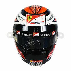 2015 Kimi Raikkonen Signed Race Used Hungarian Grand Prix Ferrari F1 Casque