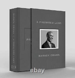 A Promised Land Deluxe Signé Edition Président Barack Obama N'a Jamais Ouvert
