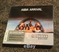 Abba Mega Rare Authentique Signé Par 3 Membres Abba Arrivée Deluxe Edition CD Box