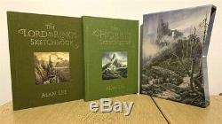 Alan Lee Le Hobbit / Le Seigneur Des Anneaux Sketchbooks De Luxe Signe Tolkien