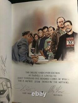 Alex Ross Original Art Sketch Dans Deluxe Marvels Hc Ltd. À 8500 Exemplaires Signés