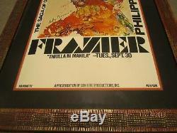 Ali Vs Frazier 1975 Thrilla À Manille Affiche Dédicacée Grand Rapids Michigan