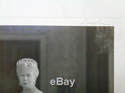 Antique Royale Présentation Photo Dédicacée Queen Mary Deuil Grande-duchesse Tiara