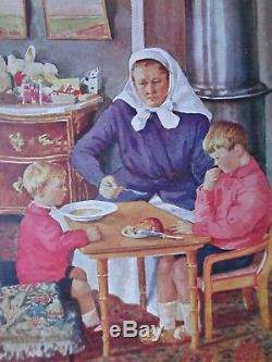 Antique Signé Carte Postale Par La Grande-duchesse Olga Romanov De La Russie Impériale